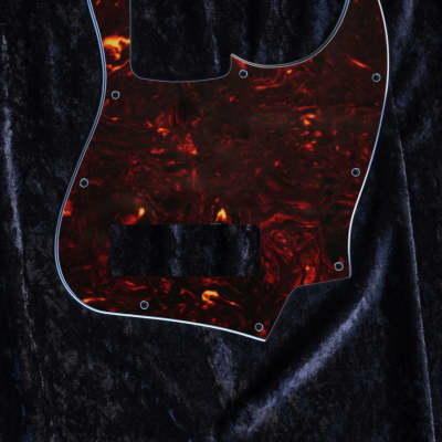 Squier Contemporary Jazz Bass HH Pickguard 4 Ply Dark Tort