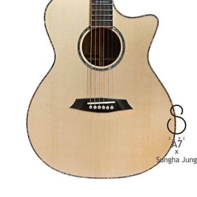 Sire A7 Sungha Jung series Natural All Solid Spruce & indian Rosewood Grand Auditorium guitar