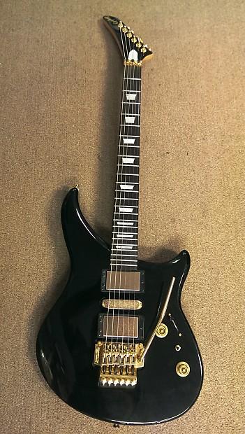 90\'s Epiphone EM-2 Rebel Electric Guitar, H-S-H, Black, Gold,   Reverb