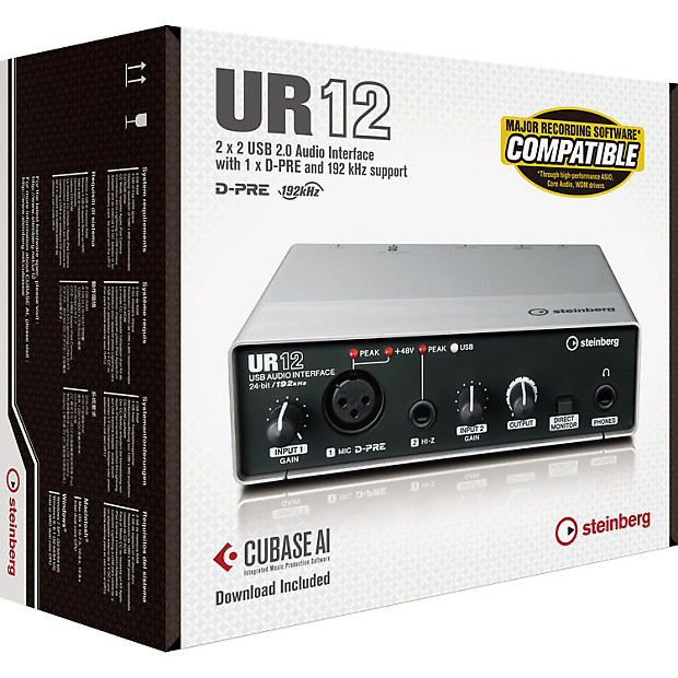 Ur12 Usb Audio Interface Driver : steinberg ur12 usb audio interface with cubase ai daw brand reverb ~ Russianpoet.info Haus und Dekorationen