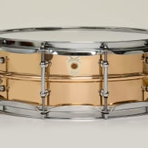 "Ludwig 6.5x14"" Bronze Snare Drum 2010s Smooth image"