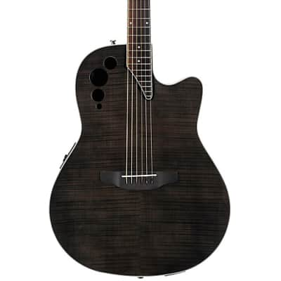 Applause Elite Series AE44IIP Acoustic-Electric Guitar  Transparent Black Flame for sale