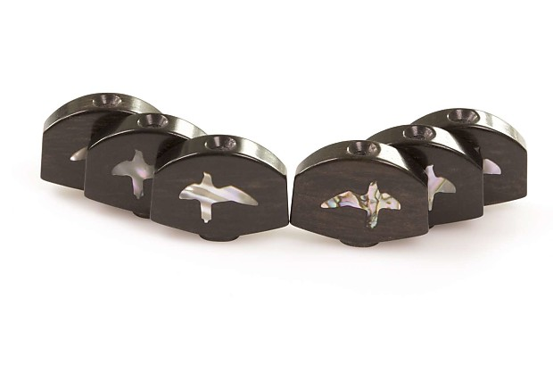 Tone Ninja Ebony w/Abalone Birds Tuner Buttons (6) PRS Phase III / Gotoh