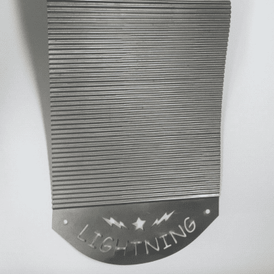 """Custom """"ZYDECO LIGHTNING"""" Washboard/ Rubboard with Scratchers  2016 Stainless Steel"""