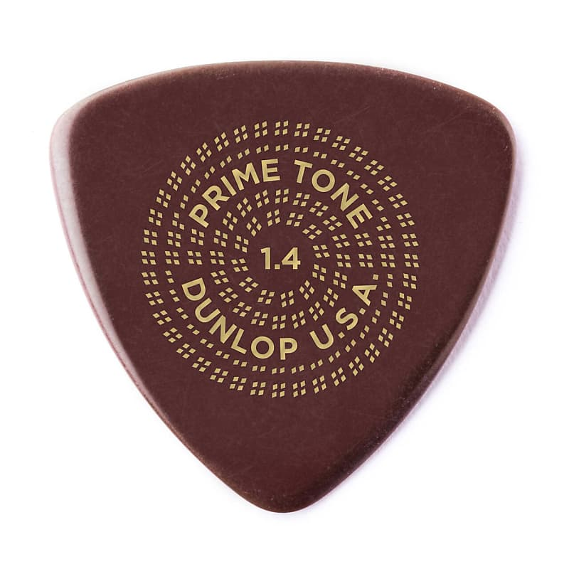 Dunlop 513P140 Primetone Triangle Smooth Pick 1.4mm (3-Pack)