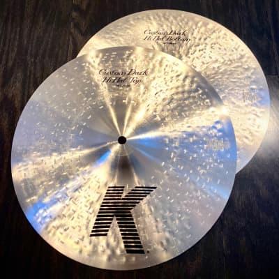 "Zildjian 14"" K Custom Dark Hi-Hat Cymbals (Pair) NEW Open Box Item"