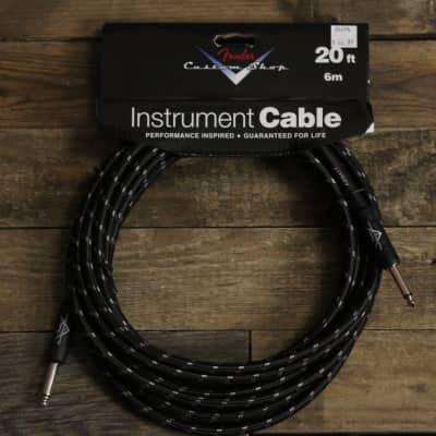 Fender Custom Shop 20' Instrument Cable - Black Tweed