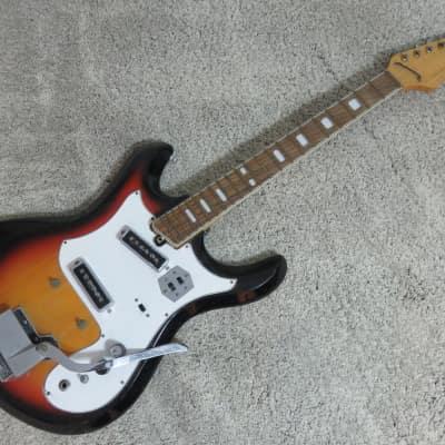 Vintage 1960s Teisco Silvertone Guitar Mosrite Univox Shape Fair Shape Solid Parts Project Restore & Teisco | Reverb