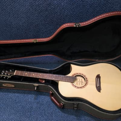 New Riversong Tradition CDN DLX Acoustic Electric Guitar w/ Case and Goodies for sale