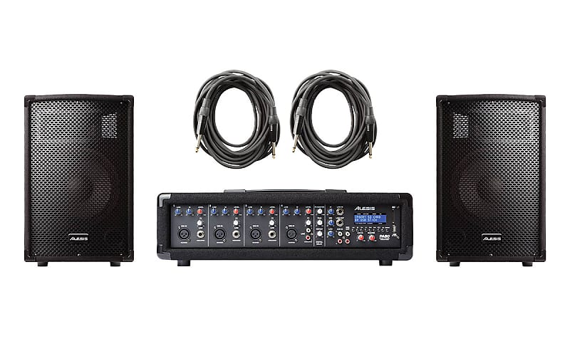 alesis pa system in a box 4 channel mixer with 280w passive reverb. Black Bedroom Furniture Sets. Home Design Ideas