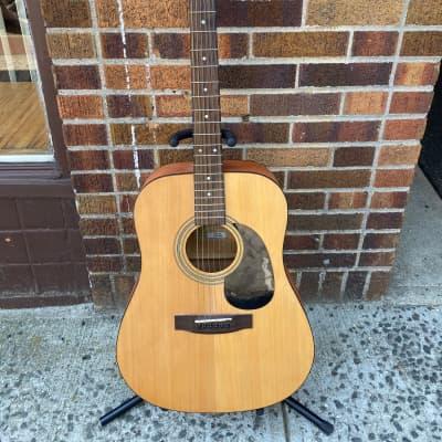 Jasmine S35 Natural Acoustic Guitar with Roadrunner Case (JD 109) for sale