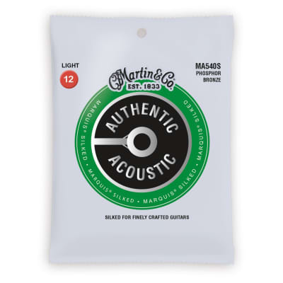 Martin MA540S Authentic Acoustic Marquis Silked Phosphor Bronze Acoustic Guitar Strings - Light (.12 - .54)