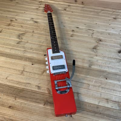 Eastwood La Baye 2x4 DEVO Bob 1 Signature Electric Guitar USED - Red for sale