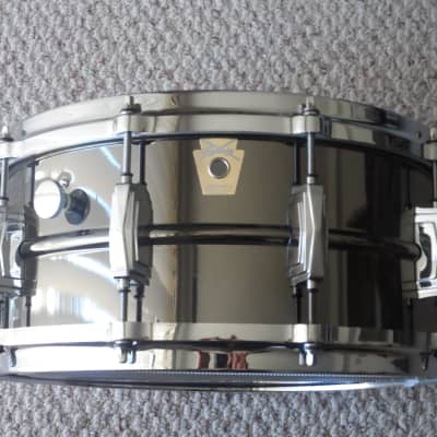 "Ludwig LB417M Black Beauty 6.5x14"" Brass Snare Drum with P-86 Millennium Strainer"