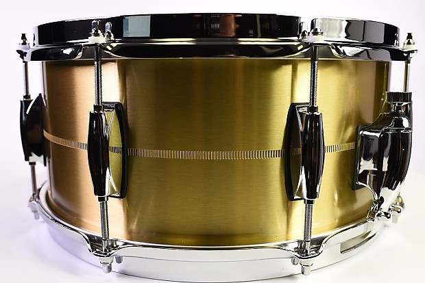 gretsch limited edition brooklyn bell brass snare drum 14x6 5 reverb. Black Bedroom Furniture Sets. Home Design Ideas