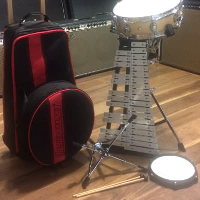 Ludwig LE2482R Snare Drum/Bells Student Percussion Combo Kit with Stand and Bag