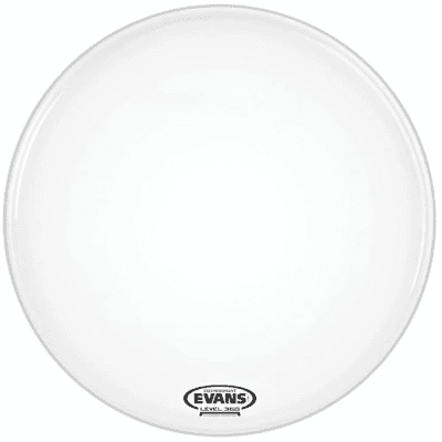 """Evans BD24RSW-NP EQ3 Resonant Smooth White Bass Drum Head with No Port - 24"""""""
