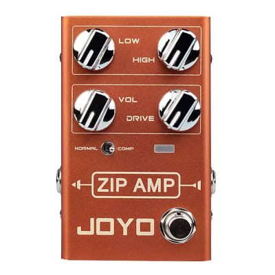 JOYO R-04 ZIP AMP Overdrive Electric Guitar Effect Pedal Strong Compression Gain Distortion for sale