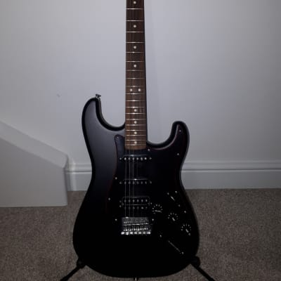 Fender Special Edition Noir Stratocaster HSS Electric Guitar for sale