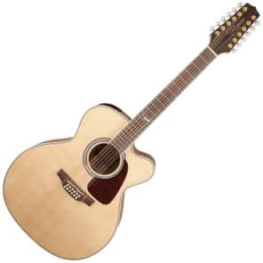 Takamine GJ72CE-12 NAT G70 Series 12-String Jumbo Cutaway Acoustic/Electric Guitar Natural Gloss