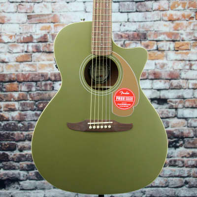 Fender Newporter Player Acoustic-Electric Guitar | Olive Satin for sale