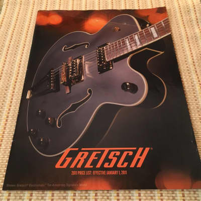 Gretsch 2011 Catalog  w/ price list    #992-1100-122