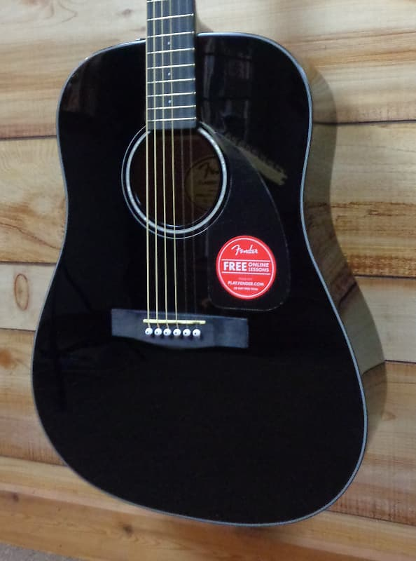 new fender cd60 dreadnought acoustic guitar v 3 black w case reverb. Black Bedroom Furniture Sets. Home Design Ideas
