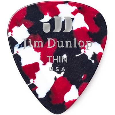Dunlop 483R06TH Celluloid Standard Classics Thin Guitar Picks (72-Pack)