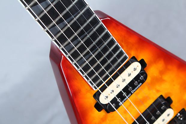 jackson kvq king v quilt top pro electric guitar floyd rose reverb. Black Bedroom Furniture Sets. Home Design Ideas