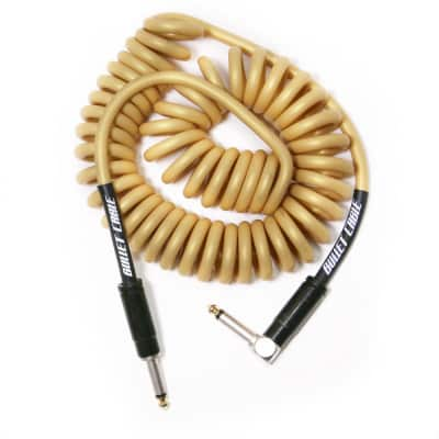 BULLET CABLE 15′ GOLD COIL CABLE
