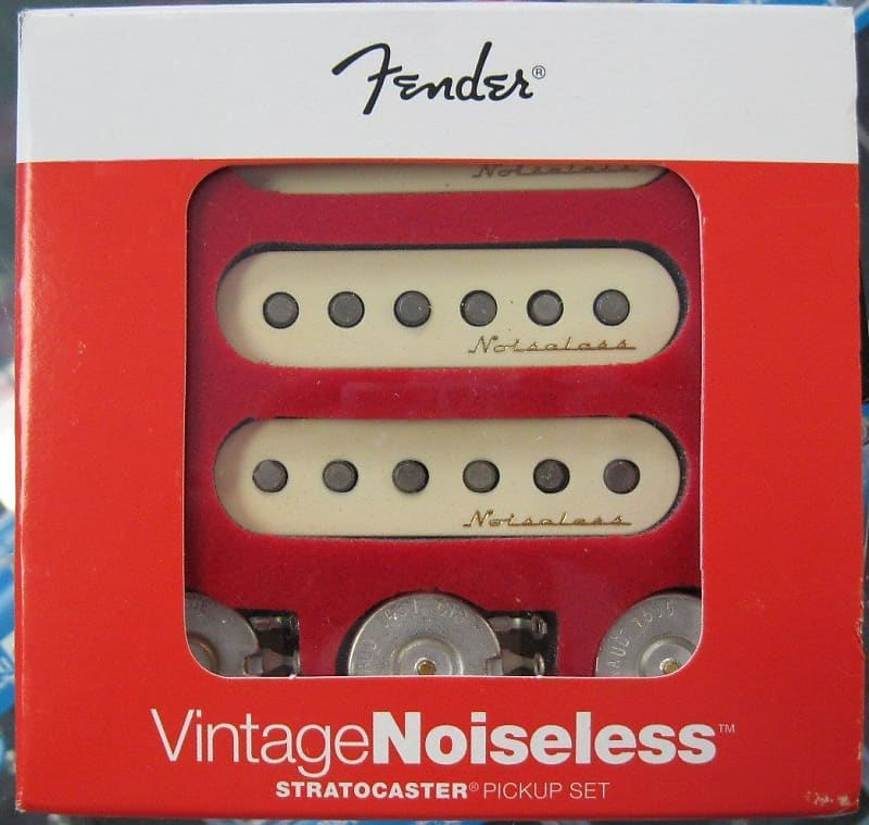 Fender® Vintage Noiseless Strat Pickup Set~Includes 3 Potentiometers~Brand New