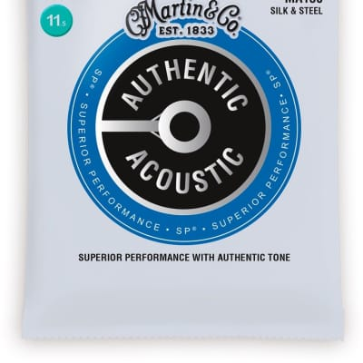 Martin SP Authentic Acoustic Silk & Steel Guitar Strings MA130