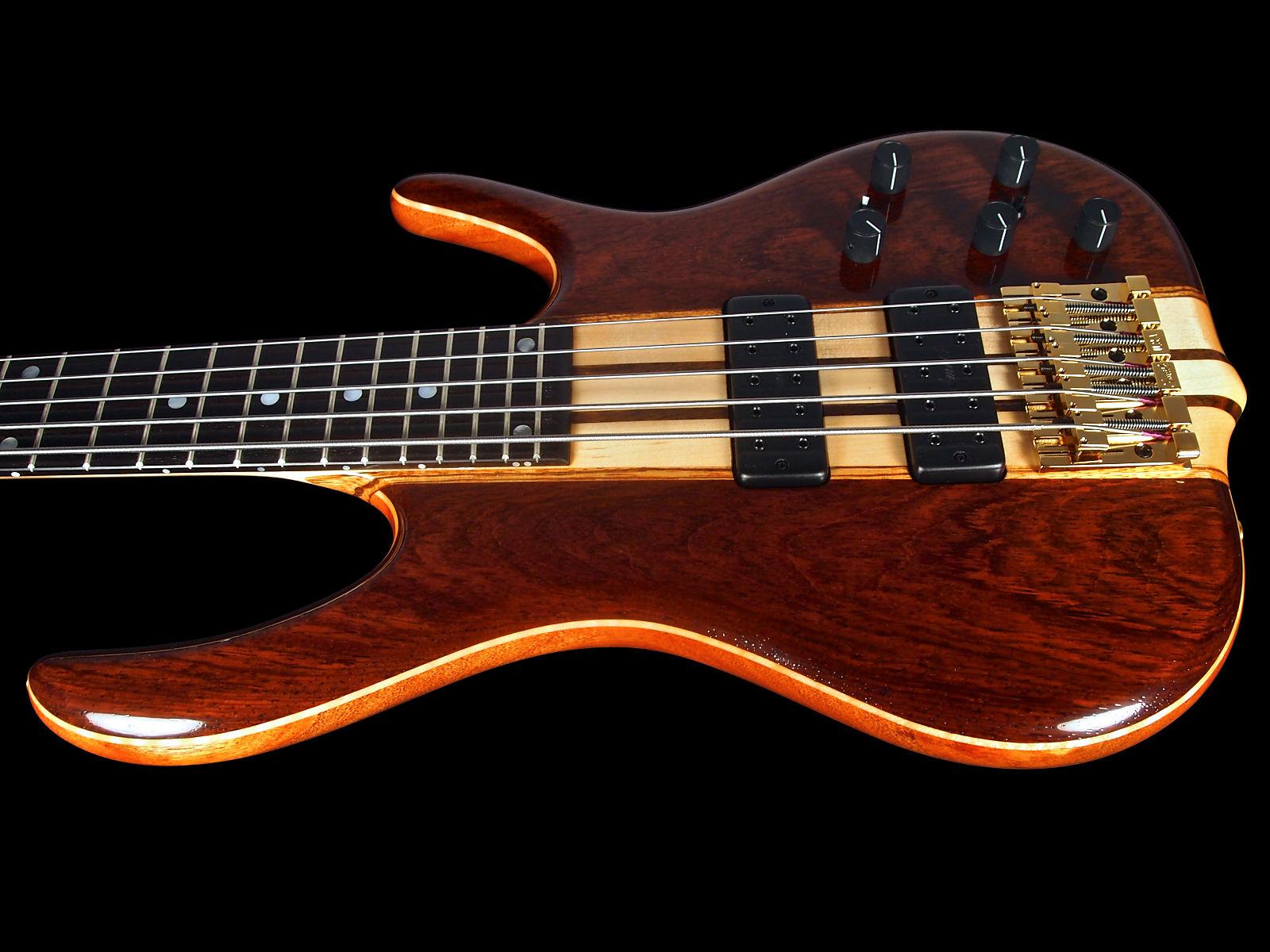 2017 Ken Smith 5EG Elite 5 String Bass W Cocobolo Top Back Neck Thru 18v Preamp Gloss