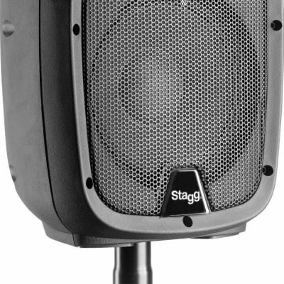 """Stagg 8"""" 2-Way 170 Watts Active Speaker w/ Bluetooth & Reverb - PMS8 US"""