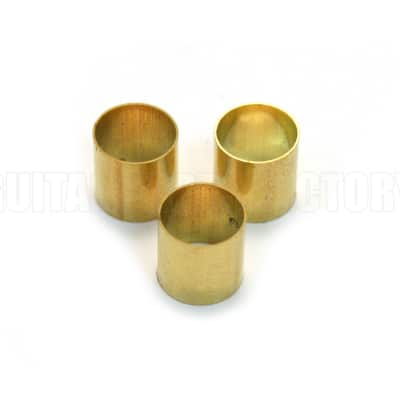 EP-0220-008 3 Brass Pot Knob Adapter Sleeves Guitar/Bass Potentiometer Hardware