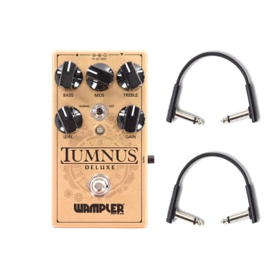 Wampler Tumnus Deluxe Overdrive Pedal V2 w/RockBoard Flat Patch Cables Bundle