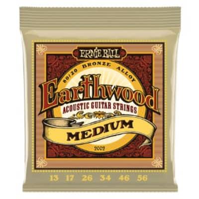 Ernie Ball 2002 Earthwood  Medium Acoustic Guitar Strings, .013 - .056