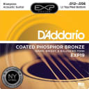 D'Addario EXP Coated Phosphor Bronze Acoustic Guitar Strings - EXP19 / Bluegrass