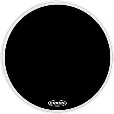 "Evans BD18RB-NP EQ3 Resonant Black Bass Drum Head with No Port - 18"""