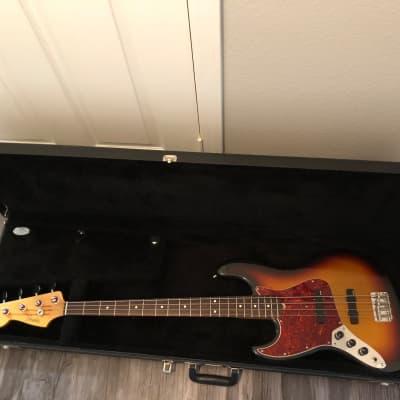 50th Anniversary 1995 Left handed Fender Jazz bass ACTIVE EMG PICKUPS hard shell case