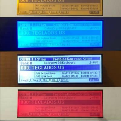 LCD color Bulbs for Korg LE/TR KARMA ( Blue, Red, Orange, White, Green)