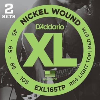 D'Addario 2-Pack Nickel Wound Bass Strings (Reg Top/Med Bottom (45-105)