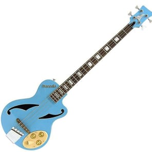 "Italia Maranello ""Z"" Electric Bass Guitar - Blue"
