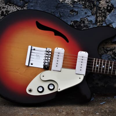 Micro-Frets Golden Melody 1971 Sunburst. Rare vintage guitar. Excellent conditon. Microfrets guitar. for sale