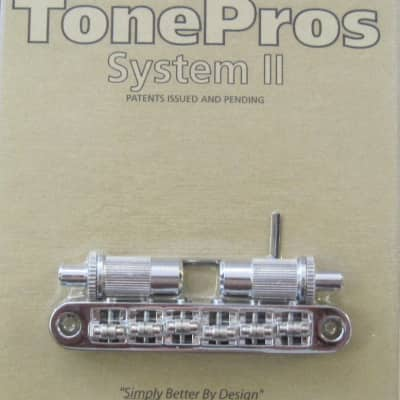 TonePros TPFR-C Metric Tuneomatic with Roller Saddles Chrome