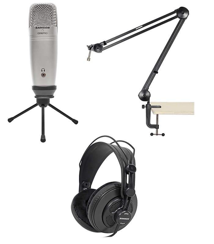 samson podcast usb recording microphone mic podcasting stand reverb. Black Bedroom Furniture Sets. Home Design Ideas