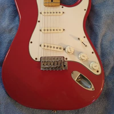 D'Agostino Strat 1980s Red for sale