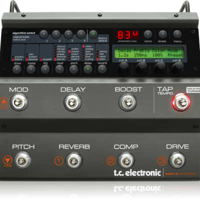 TC Electronic 963200011 NOVA SYSTEM US, Exceptional Compact Floor-Based Processor for Guitar Effects with 6 FX Blocks, Analog Drive and Flexible Operation