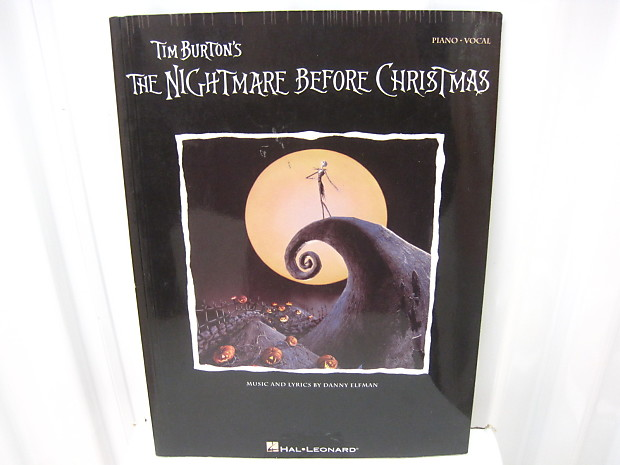 The Nightmare Before Christmas Sheet Music Song Book Songbook Piano Vocal
