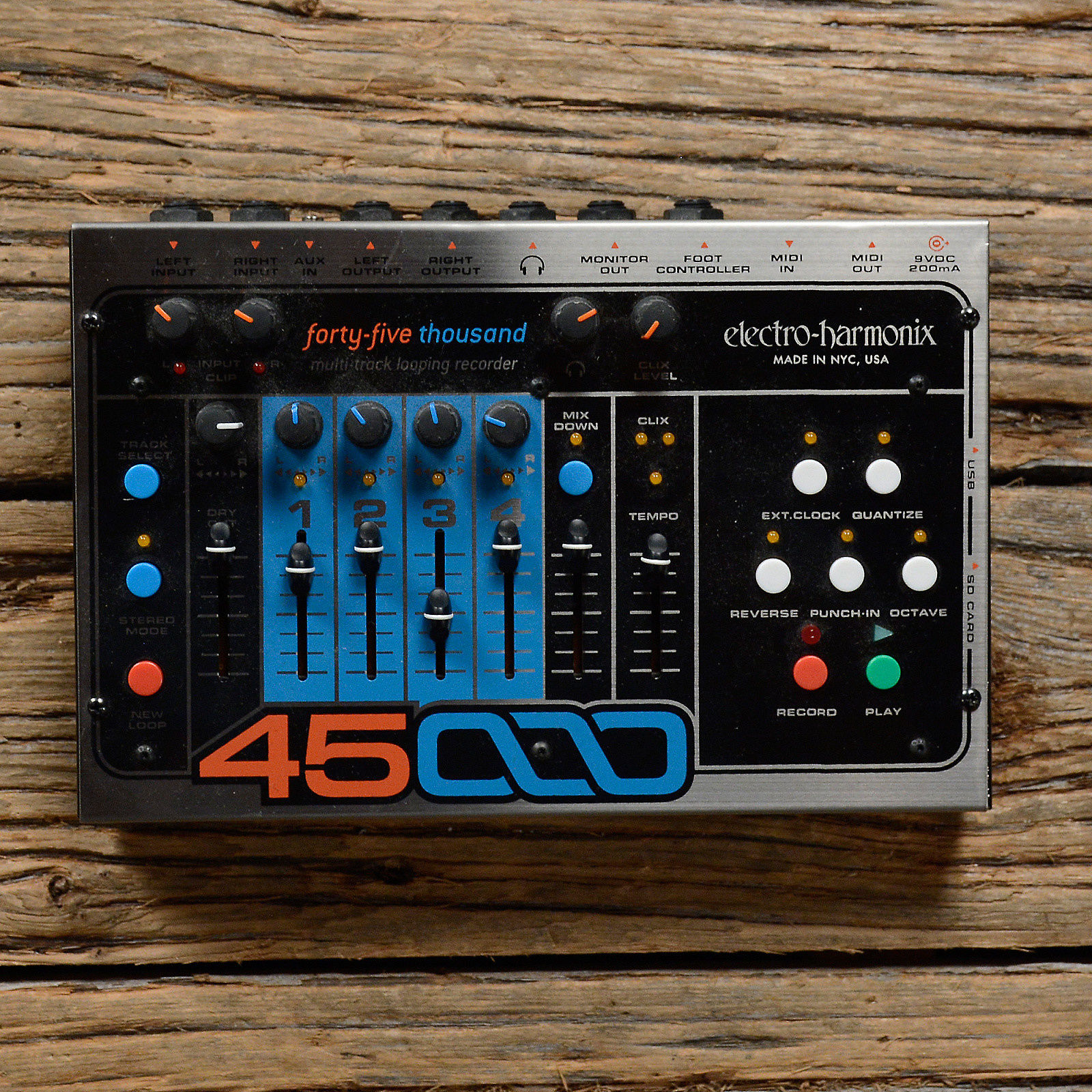 New Electro-Harmonix EHX 45000 Multi-Track Looping Recorder Pedal w//Foot Control